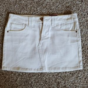 White jean mini skirt- NWT